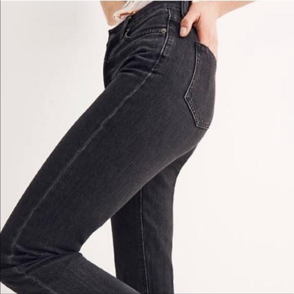 Madewell Rail Straight Skinny Jeans Black 25 x 34